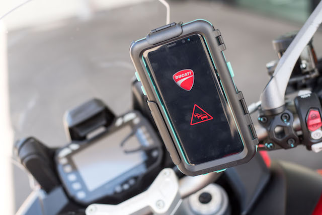 Ducati Presents Car To Bike Communication Technology At Ces In Las Vegas