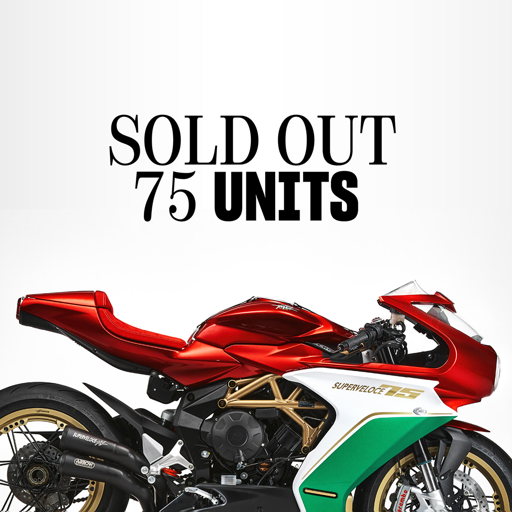 Mv Agusta's Celebration Superveloce 75 Anniversario Sold-out Within Seconds Of Launch