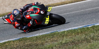 Andrea Dovizioso And Aprilia At Jerez