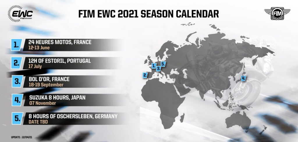 Revised 2021 Fim Ewc Calendar