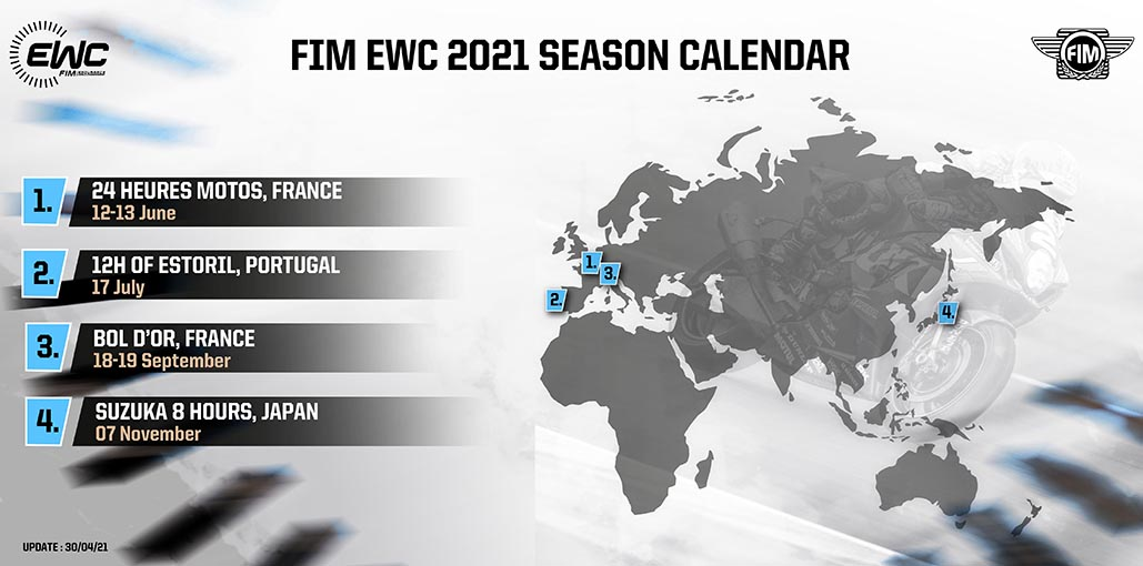 Revised 2021 Fim Ewc Calendar Without The 8 Hours Of Oschersleben