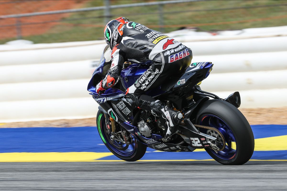 Gagne Leads Opening Day In Honos Superbike At Road Atlanta
