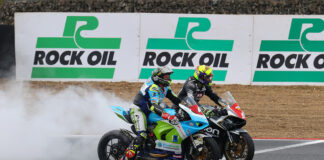 Chris 'stalker' Walker Wins At Brands Gp And Is Joined On The Podium By John Mcguinness
