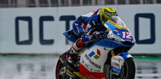 Luthi Leads Bezzecchi On A Rainy Day For Moto2