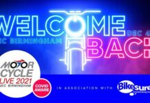 Welcome Back To Motorcycle Live 2021 – A Warm Welcome Awaits